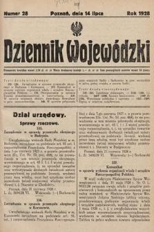 Dziennik Wojewódzki. 1928, nr28
