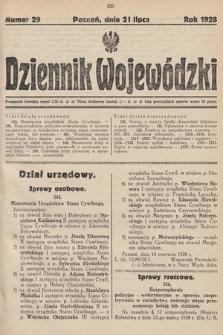 Dziennik Wojewódzki. 1928, nr29