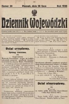 Dziennik Wojewódzki. 1928, nr30