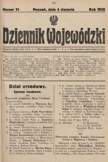 Dziennik Wojewódzki. 1928, nr31