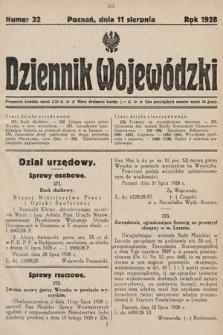 Dziennik Wojewódzki. 1928, nr32