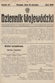 Dziennik Wojewódzki. 1928, nr33