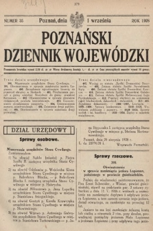 Poznański Dziennik Wojewódzki. 1928, nr35