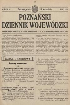 Poznański Dziennik Wojewódzki. 1928, nr37