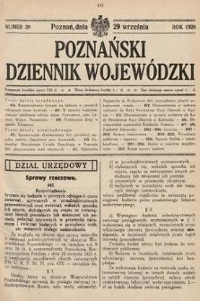 Poznański Dziennik Wojewódzki. 1928, nr39