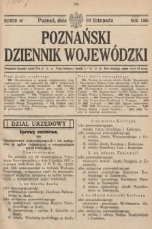Poznański Dziennik Wojewódzki. 1928, nr45