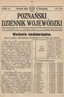 Poznański Dziennik Wojewódzki. 1928, nr45a