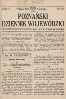 Poznański Dziennik Wojewódzki. 1928, nr49