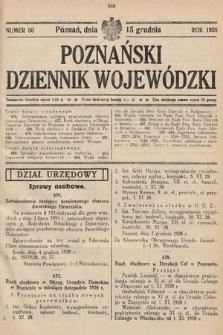 Poznański Dziennik Wojewódzki. 1928, nr50