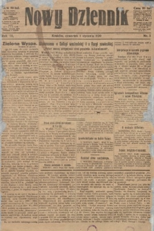 Nowy Dziennik. 1920, nr1