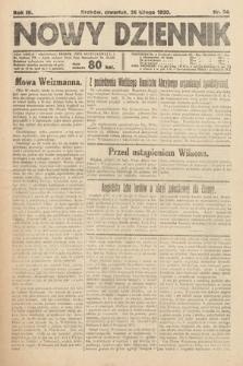Nowy Dziennik. 1920, nr54