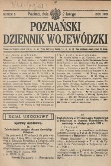 Poznański Dziennik Wojewódzki. 1929, nr5
