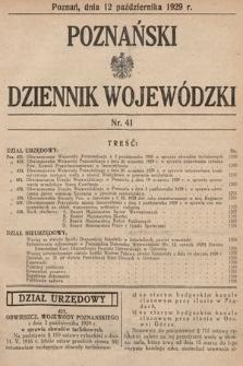 Poznański Dziennik Wojewódzki. 1929, nr41