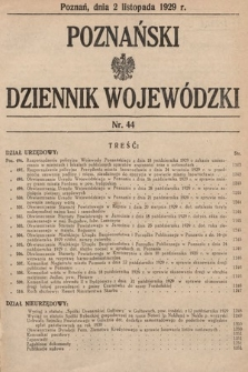 Poznański Dziennik Wojewódzki. 1929, nr44