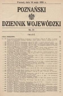 Poznański Dziennik Wojewódzki. 1931, nr21