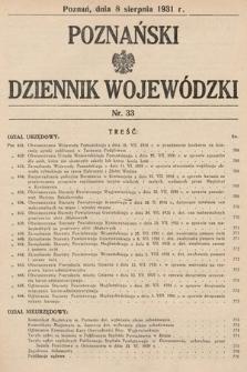 Poznański Dziennik Wojewódzki. 1931, nr33