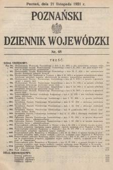 Poznański Dziennik Wojewódzki. 1931, nr48