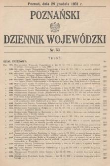 Poznański Dziennik Wojewódzki. 1931, nr53