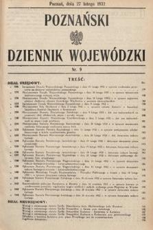 Poznański Dziennik Wojewódzki. 1932, nr9