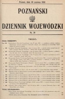 Poznański Dziennik Wojewódzki. 1934, nr28