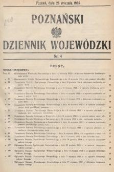 Poznański Dziennik Wojewódzki. 1935, nr4