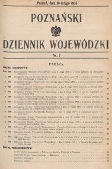 Poznański Dziennik Wojewódzki. 1935, nr7