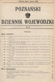 Poznański Dziennik Wojewódzki. 1935, nr9