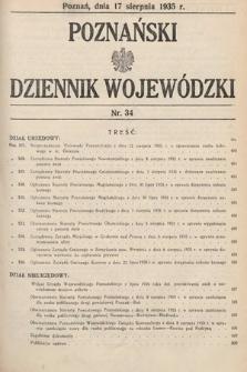 Poznański Dziennik Wojewódzki. 1935, nr34