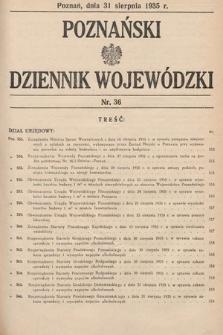 Poznański Dziennik Wojewódzki. 1935, nr36