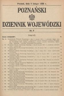 Poznański Dziennik Wojewódzki. 1936, nr6