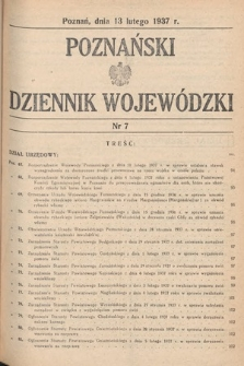 Poznański Dziennik Wojewódzki. 1937, nr7