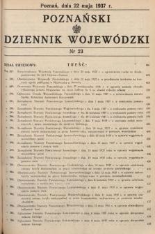 Poznański Dziennik Wojewódzki. 1937, nr23