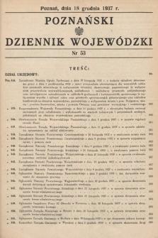 Poznański Dziennik Wojewódzki. 1937, nr53