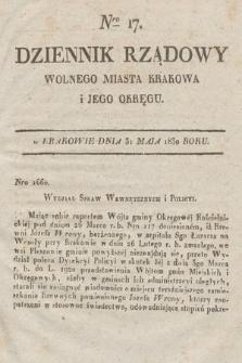 Dziennik Rządowy Wolnego Miasta Krakowa i Jego Okręgu. 1830, nr17