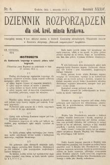 Dziennik Rozporządzeń dla Stoł. Król. Miasta Krakowa. 1914, nr8
