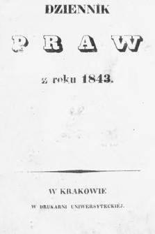 Dziennik Praw. 1843