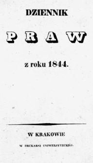 Dziennik Praw. 1844