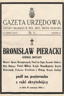 Gazeta Urzędowa Zarządu Miejskiego w Stoł. Król. Mieście Krakowie. 1934, nr6