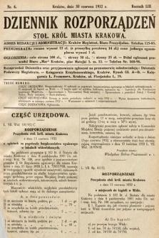 Dziennik Rozporządzeń Stoł. Król. Miasta Krakowa. 1932, nr6