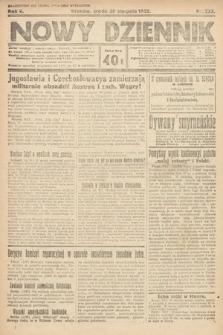 Nowy Dziennik. 1922, nr233