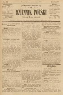 Dziennik Polski (wydanie poranne). 1903, nr174