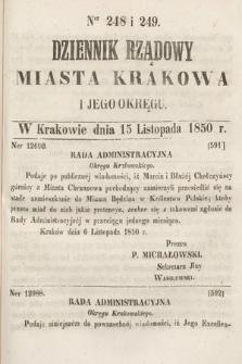 Dziennik Miasta Krakowa i Jego Okręgu. 1850, nr248-249