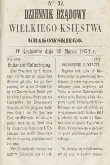 Dziennik Rządowy Wielkiego Księstwa Krakowskiego. 1854, nr32