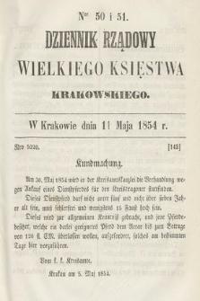 Dziennik Rządowy Wielkiego Księstwa Krakowskiego. 1854, nr50-51