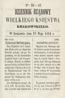 Dziennik Rządowy Wielkiego Księstwa Krakowskiego. 1854, nr55-57