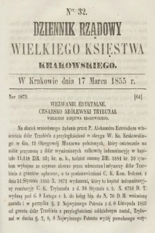 Dziennik Rządowy Wielkiego Księstwa Krakowskiego. 1855, nr32