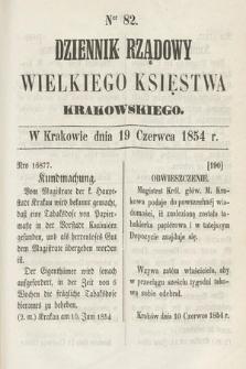 Dziennik Rządowy Wielkiego Księstwa Krakowskiego. 1854, nr82