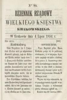 Dziennik Rządowy Wielkiego Księstwa Krakowskiego. 1854, nr88