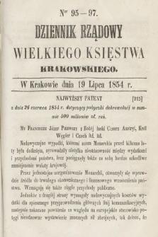 Dziennik Rządowy Wielkiego Księstwa Krakowskiego. 1854, nr95-97