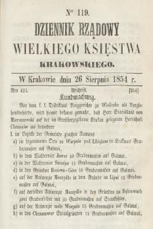 Dziennik Rządowy Wielkiego Księstwa Krakowskiego. 1854, nr119